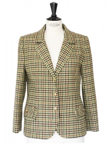 Autumn colors plaid print blazet jacket Size 38/40