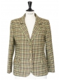 Autumn colors plaid print blazet jacket Size 40