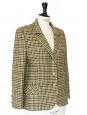 Veste blazer en laine imprimée écossais tons d'automne Taille 38/40