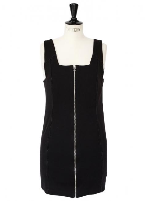 Black jersey ponte zip dress Retail price €170 Size 38