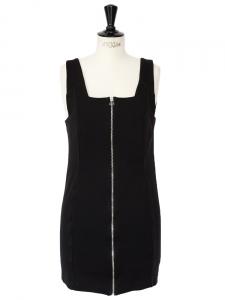 Robe sans manches en jersey noir à fermeture éclair Px boutique 170€ Taille 38