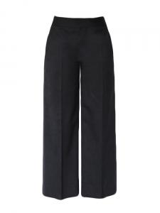 Pantalon ample coupe droite taille haute en laine noire Px boutique 650€ Taille 36