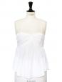 Débardeur à bretelles fines en gaze de coton blanc Px boutique 180€ Taille 38
