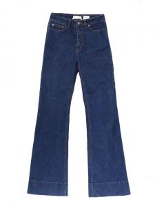 SEE BY CHLOE Raw blue bootleg denim pants Retail price €250 Size 38