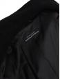 Manteau long en feutre de laine vierge et angora noir Px boutique 800€ Taille 40