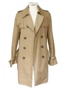 Manteau Trench Homme en coton beige camel Px boutique supérieur à 400€ Taille M