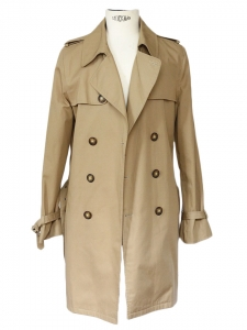 Men's camel beige cotton trench coat Retail price over €400 Size M