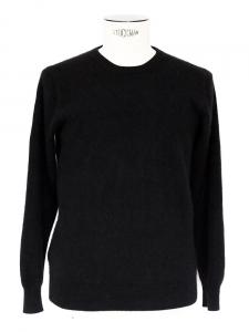 Pull col rond manches longues en cachemire de luxe 4 fils noir Px boutique 340€ Taille S/M