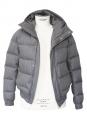 Doudoune en duvet de plumes d'oie gris clair Px boutique 2500€