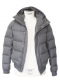 Light grey men's luxury down jacket Retail price €2500