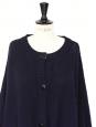 Cape oversize en laine mérinos bleu marine Px boutique 440€ Taille S