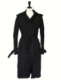 Black wool-blend pleated trench coat Retail price €950 Size S