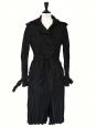 Trench plissé noir en laine mélangée Px boutique 950€ Taille S