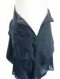 Jupe à volants en voile bleu pétrole Px boutique 800€ Taille 34