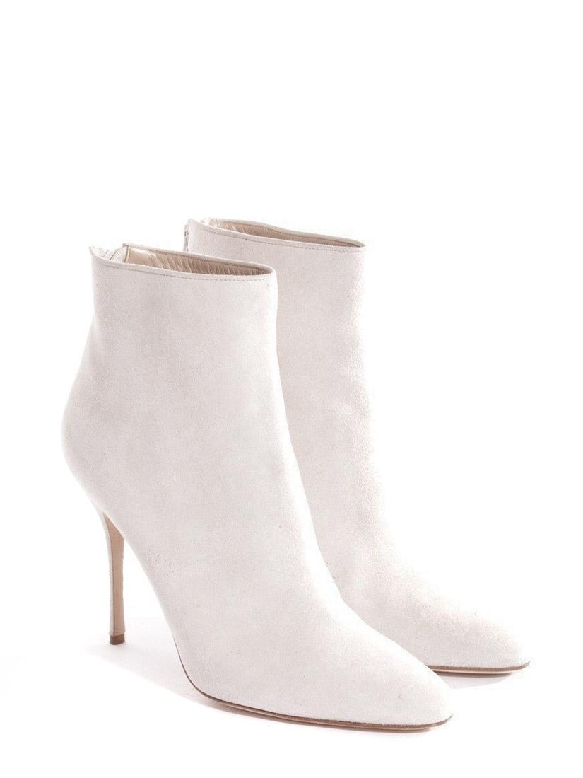 b2d25540f506d Bottines talon stiletto bout pointu en suède blanc crème NEUVES Px boutique  990€ Taille 40 ...