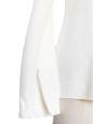 Top manches longues cintré texturé blanc à détail asymétrique Px boutique 500€ Taille 38