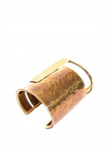 ORACLE Gold and copper-tone brass cuff bracelet Retail price €700