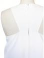 Robe trapèze sans manche col rond blanc ivoire Px boutique 750€ Taille 36