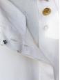 Top débardeur en soie crème écru et boutons dorés Px boutique 800€ Taille 38/40