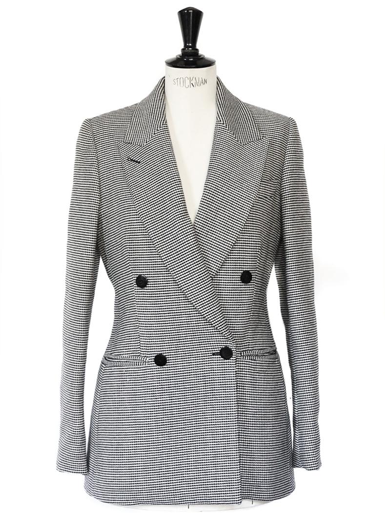 louise paris stella mccartney veste blazer cintr double boutonni re en laine pied de poule. Black Bedroom Furniture Sets. Home Design Ideas