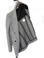 Veste blazer cintré double boutonnière en laine pied de poule noir et blanc Px boutique 1200€ Taille 36