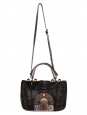 F3 SECRET CODE Brown watersnake leather and alys calf hair cutout bag with semi-precious stones NEW Retail price €3470