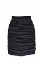Jupe Couture taille haute en ramie drapé noir Px boutique 850€ Taille 40/42