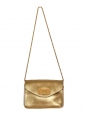 SALLY Gold leather cross body bag Retail price €1320