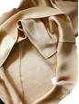 Blouse col rond manches 3/4 en soie beige sable NEUVE Px boutique 650€ Taille 34