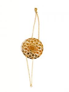 CAMILLE AMBLARD Gold-plated rosette fine bracelet Retail price €75 Size S