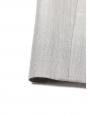 Robe de cocktail bustier en soie et fine laine grise Px boutique 2300€ Taille 36