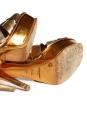 Sandales TRIBUTE en cuir métallisé cuivre doré Px boutique 650€ Taille 38,5