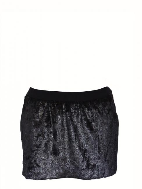 8b92fd18d4 Louise Paris - BA&SH Mini jupe en fausse fourrure noir Taille 36