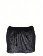 Mini jupe CYGNE en fausse fourrure gris brun irisé Taille 36