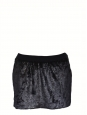 Mini jupe CYGNE en fausse fourrure noir Taille 36
