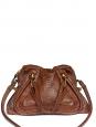 PARATY Medium cognac brown python snakeskin leather shoulder bag Retail price €2500