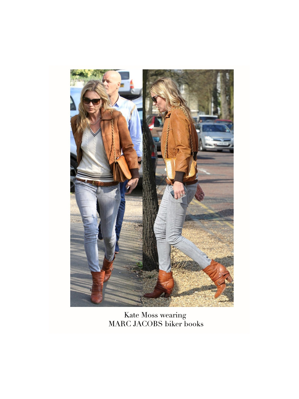 b214b6a525f7fe Louise Paris - MARC BY MARC JACOBS Biker ankle boots in camel beige leather  Retail price €600 Size 36