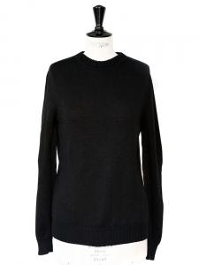 Pull col rond en pure laine vierge noire Px boutique 350€ Taille 38