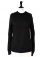 Pull col rond en pure laine vierge noire Prix boutique 350€ Taille 38