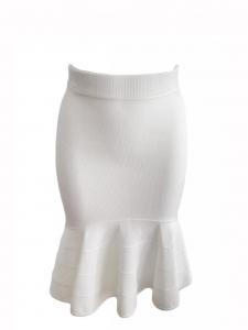 GIVENCHY Jupe sirène à bandes en jersey blanc crème Px boutique 950€ Taille 34