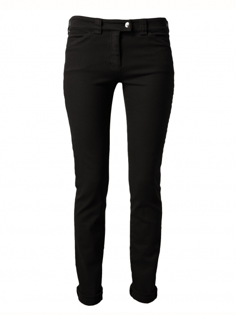Black stretch cotton slim fit low waist denim jeans Retail price €280 Size 36
