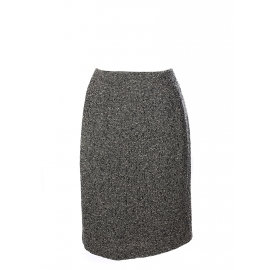 Black and white virgin wool tweed pencil skirt Retail price €200 Size 38