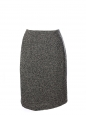 Black and white virgin wool tweed high waisted skirt Retail price €200 Size 38