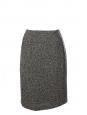 Jupe crayon en tweed de laine vierge noir et blanc Prix boutique 200€ Taille 38