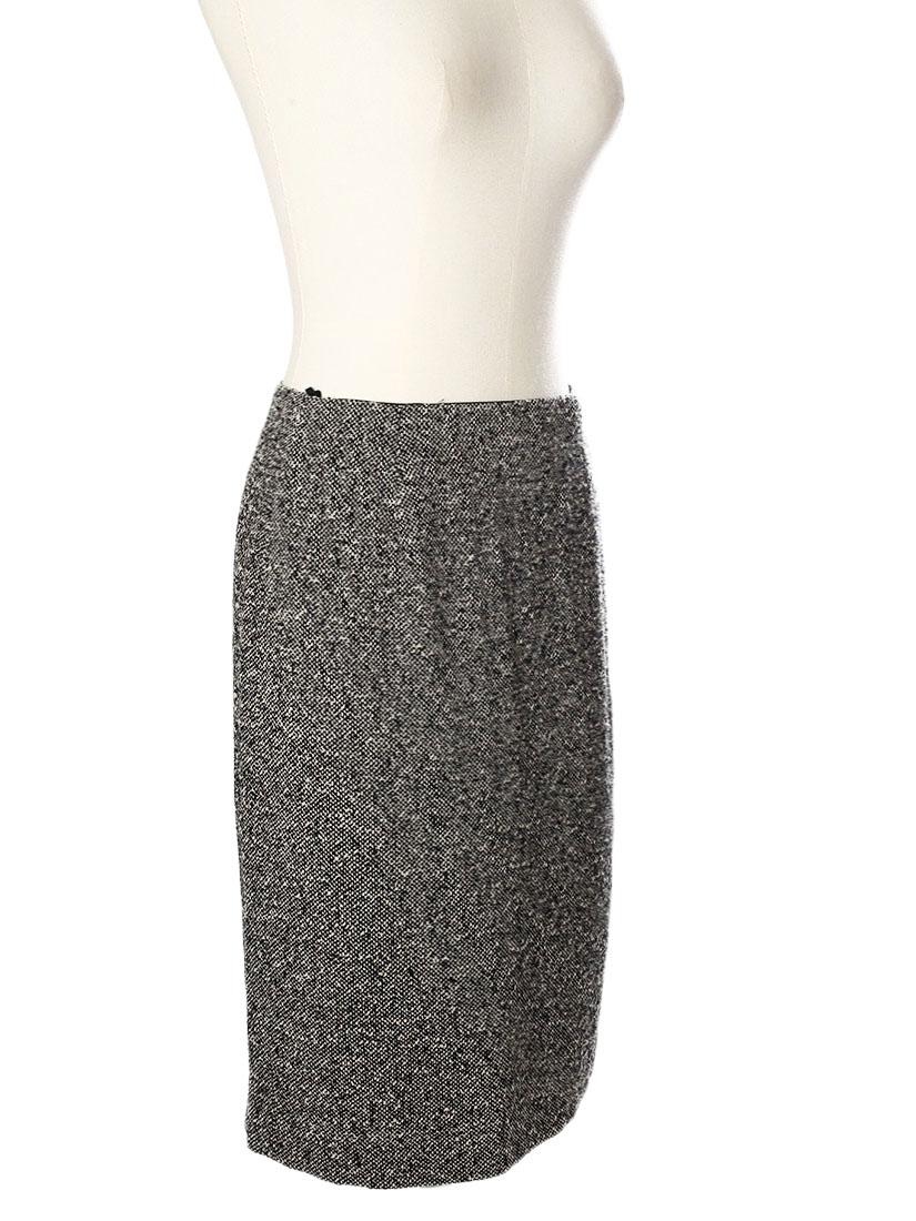 louise paris max mara jupe crayon taille haute en tweed de laine vierge noir et blanc px. Black Bedroom Furniture Sets. Home Design Ideas