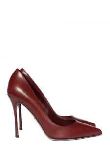 Burgundy red leather high stiletto heel pumps NEW Retail price €540 Size 37