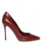 Escarpins talon stilettos en cuir rouge bordeaux NEUF Px boutique 540€ Taille 37