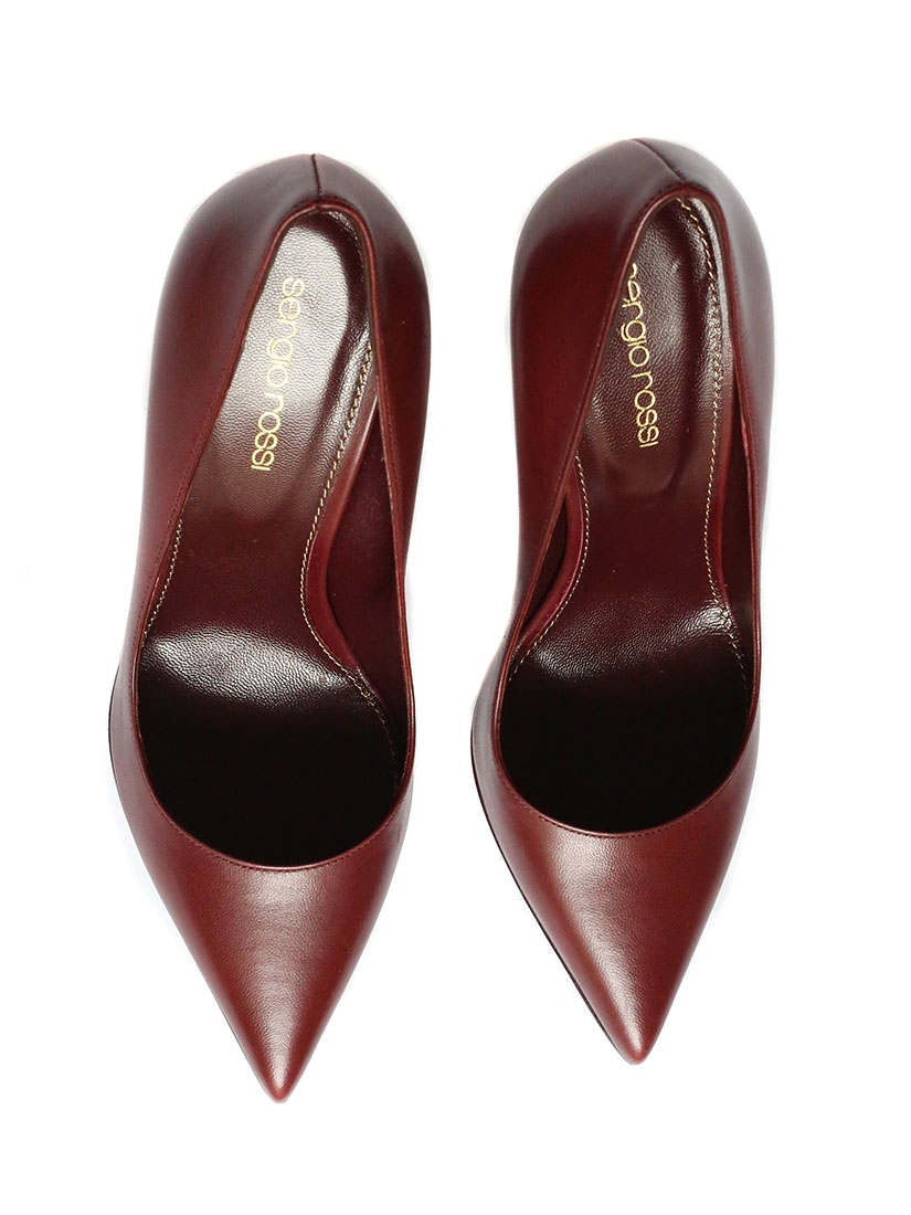 Louise Paris - SERGIO ROSSI Burgundy red leather high