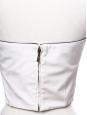 Top bustier court décolleté coeur en soie blanc ivoire NEUF Px boutique 1100€ Taille 34