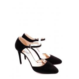 Black suede ankle strap heel pumps Retail price €600 Size 40